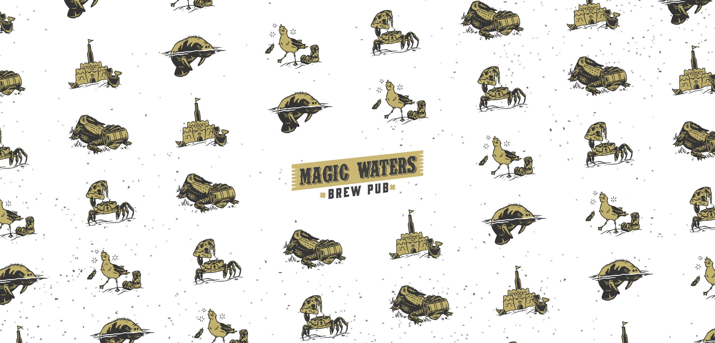 Magic Waters Brewpub Branding Project