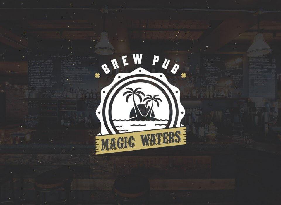 Magic waters restaurant branding