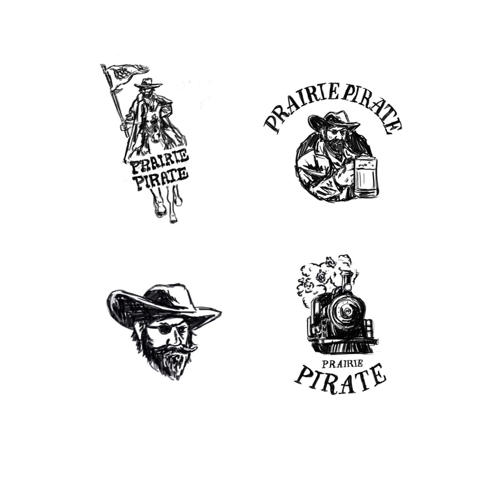 Prairie pirate apparel illustration concepts