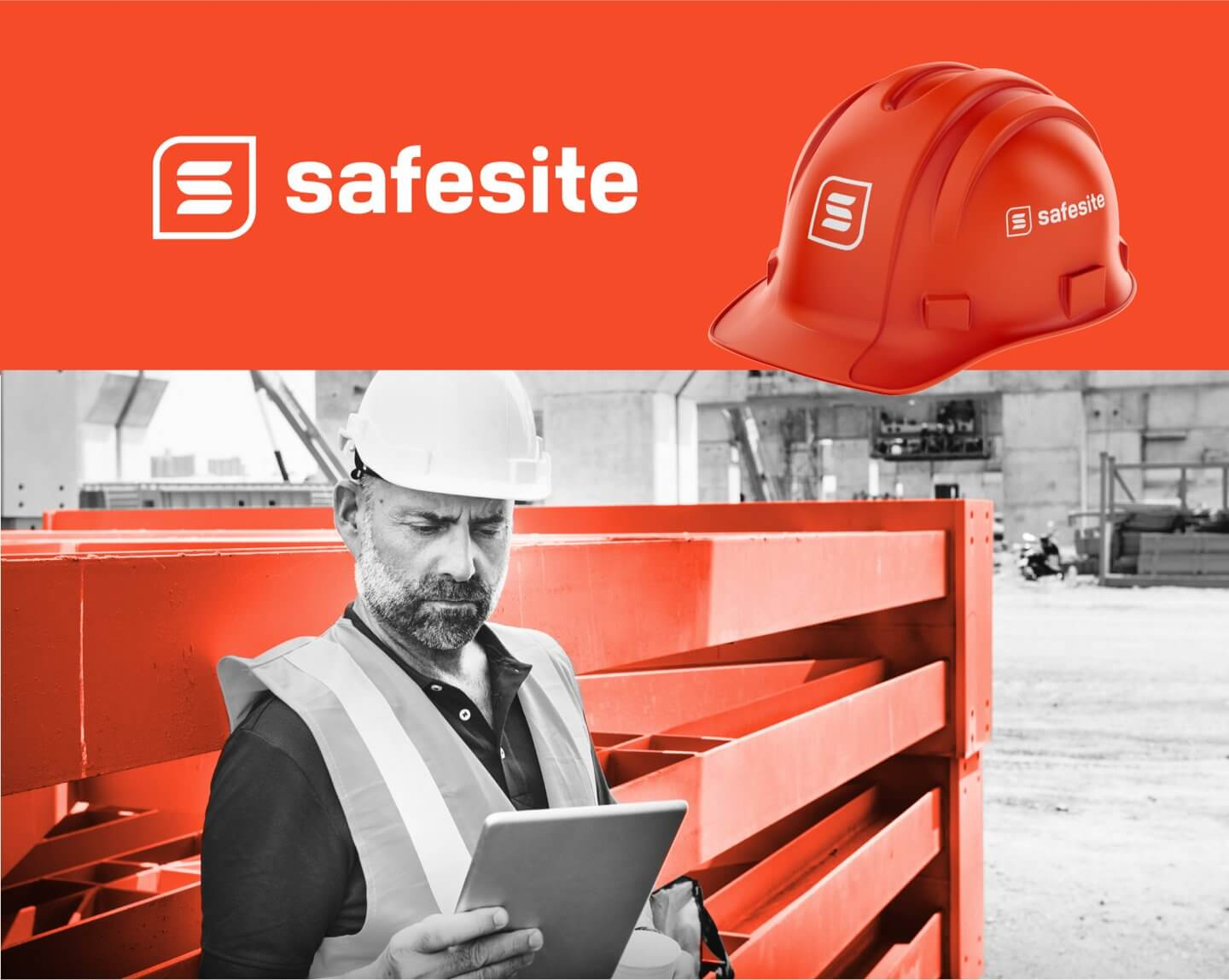 Safesite logo design and visual identity