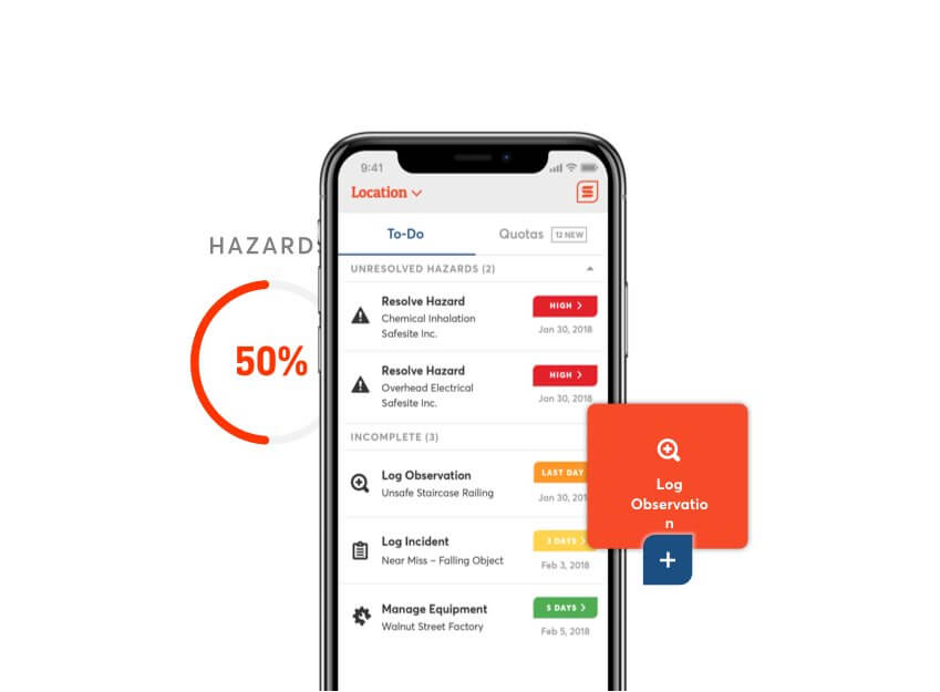 Safesite mobile app ui and ux design