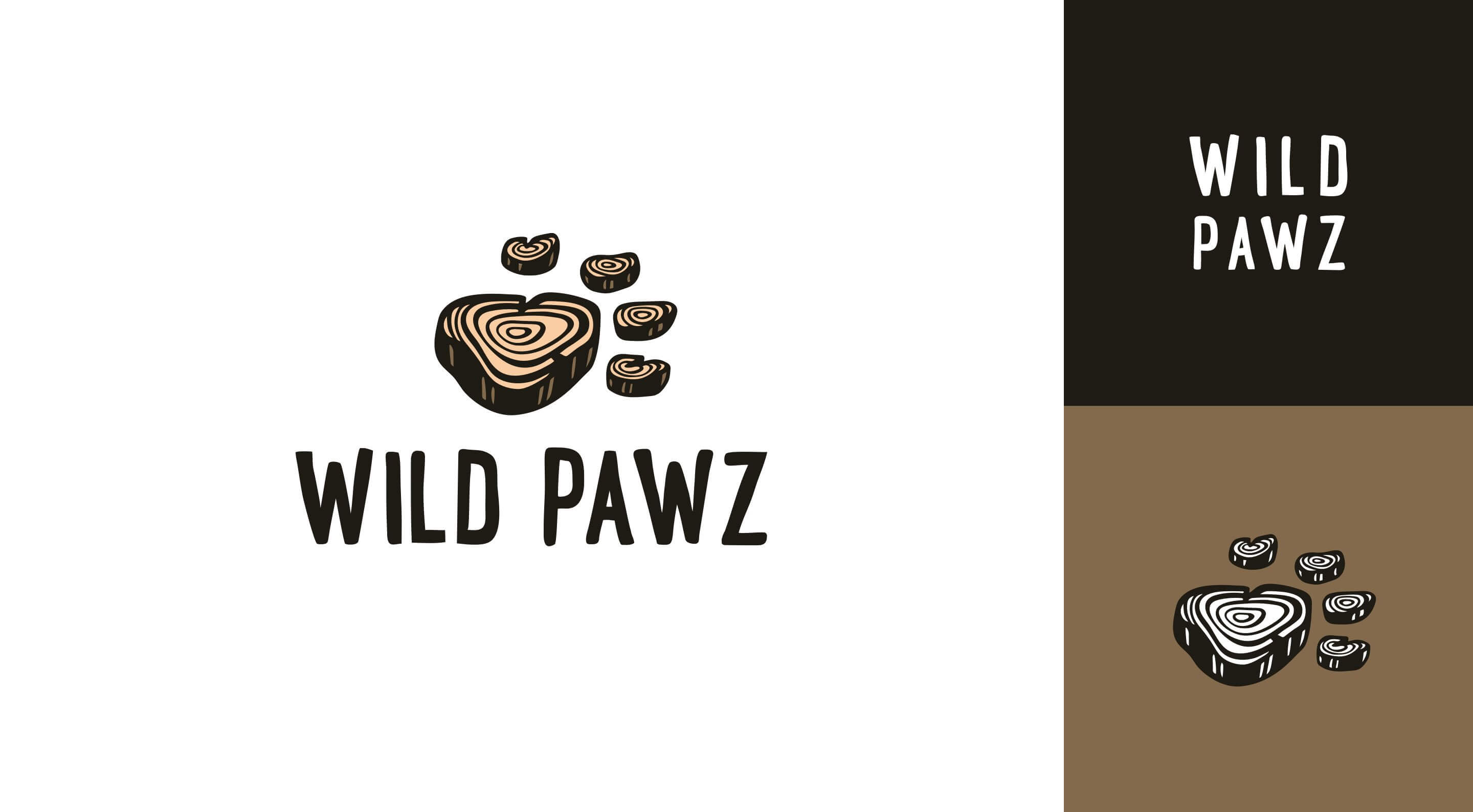 wild paws pet store branding system