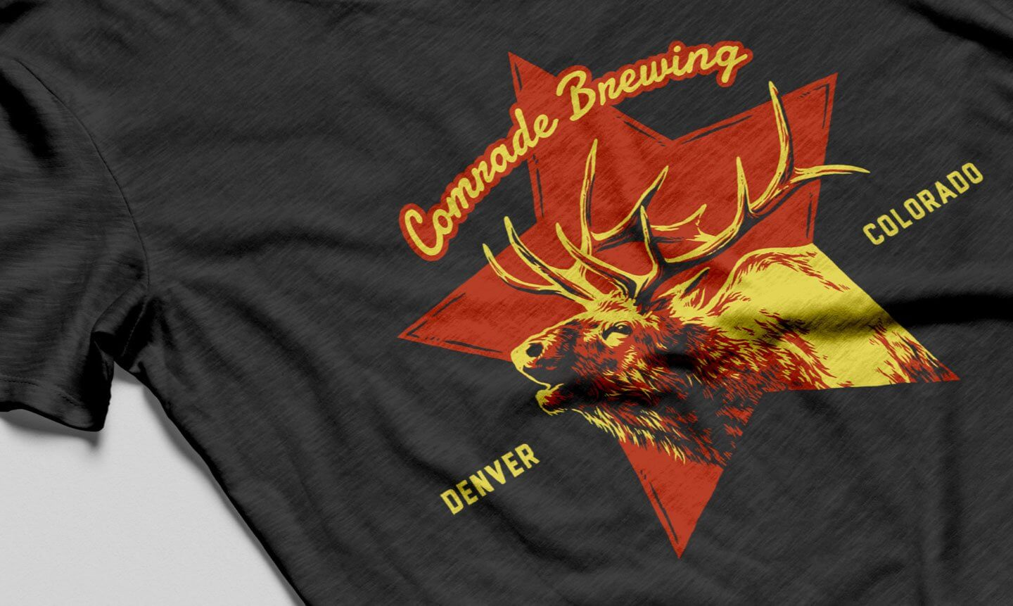Comrade Brewing Elk Shirt Illustration