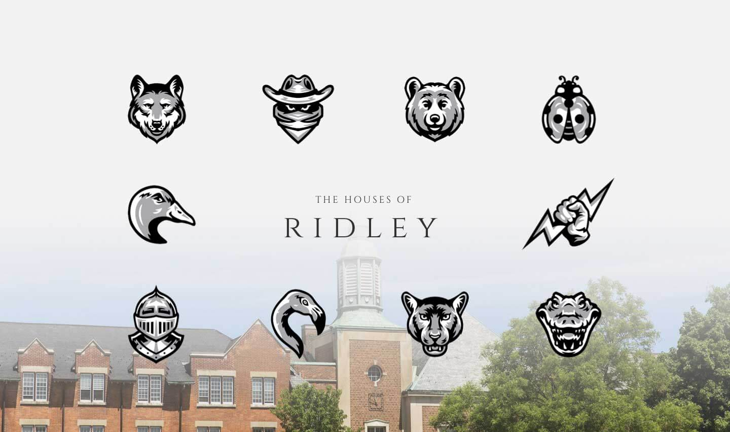Ridley College House Mascot Logos