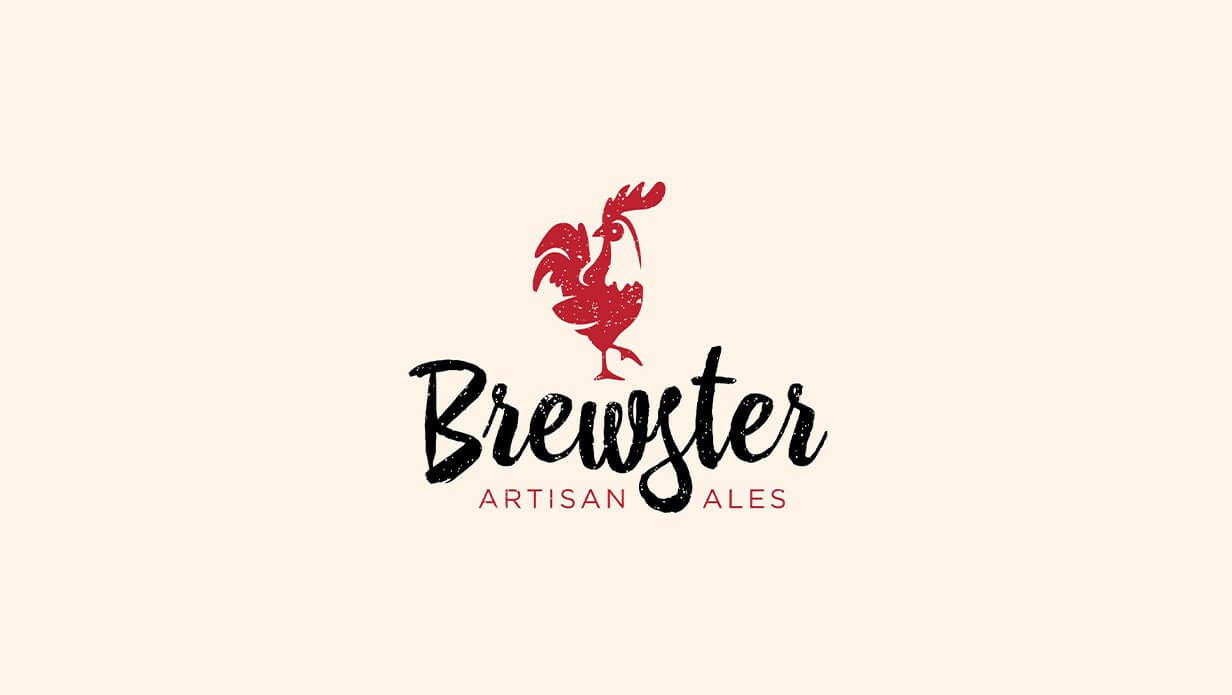 brewster vintage craft beer logo design
