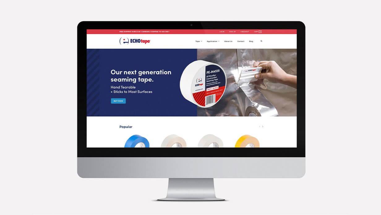 echotape clean website design