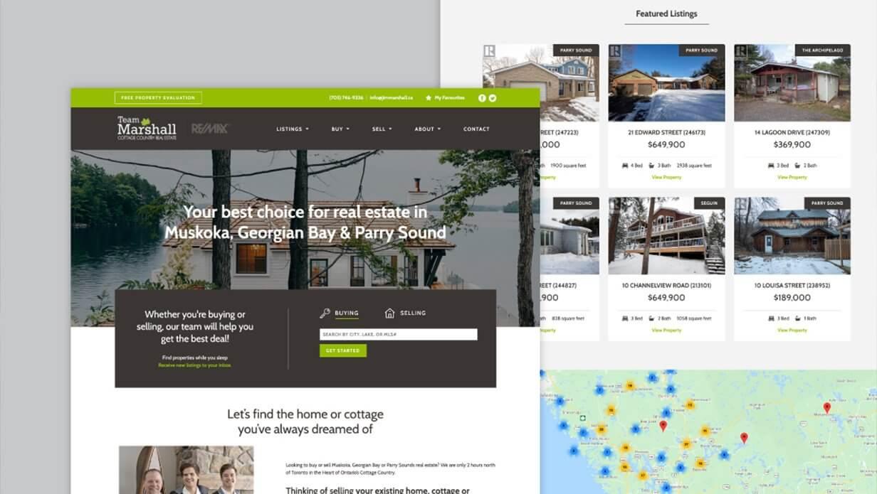 muskoka real estate website design