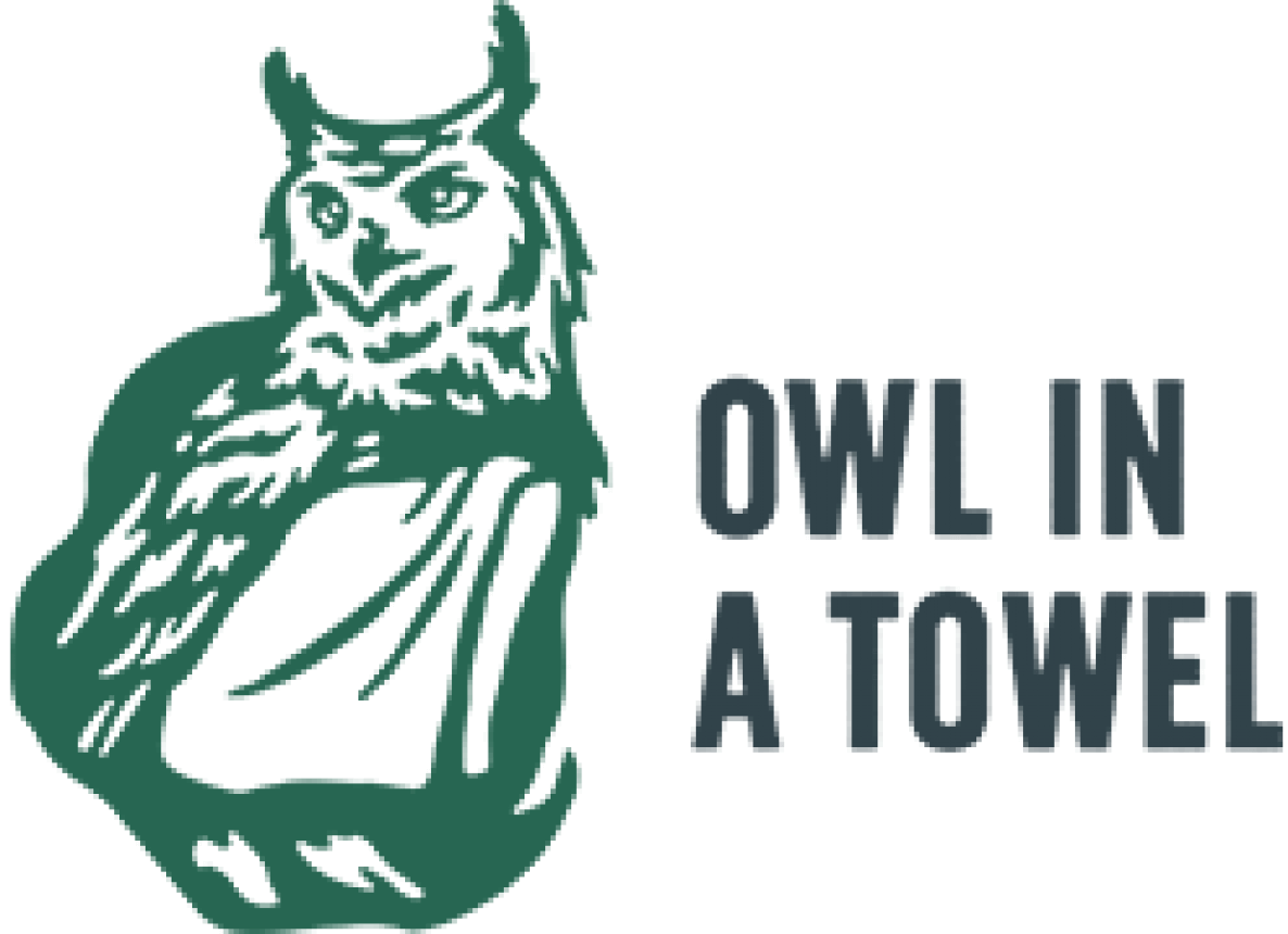 owl in a towel client logo