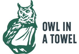 Owl in a Towel logo