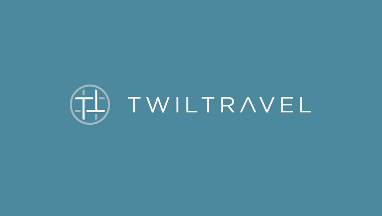 twil travel modern monogram logo design