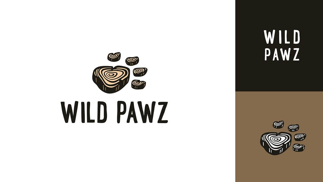 wild pawz pet store icon logo