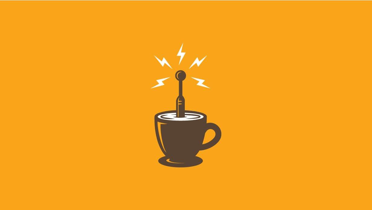 antenna coffeee logo design