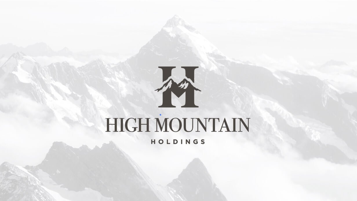high mountain holding monogram logo