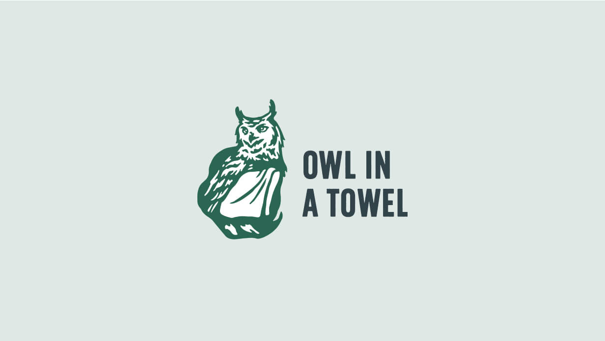 Owl in a Towel Logo Design