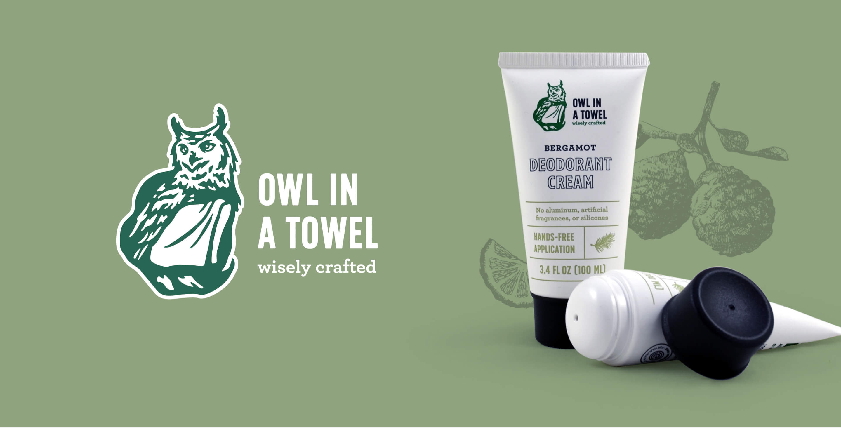 Owl in a Towel Cosmetic Branding